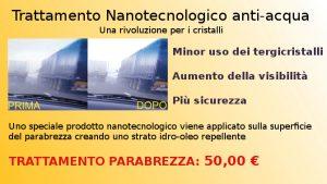 Trattamento nanotecnologico per il parabrezza a Brescia e provincia